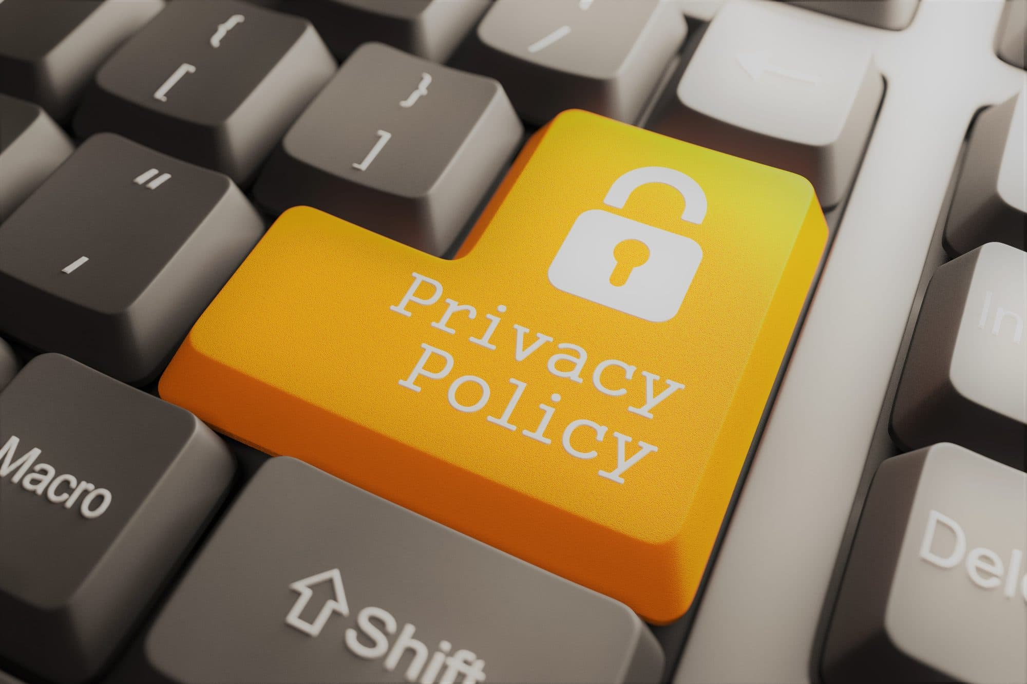 Privacy policy GDPR AVG keyboard knop